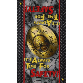 SAFETY MESSAGE floor mat – It's Always Time for Safety