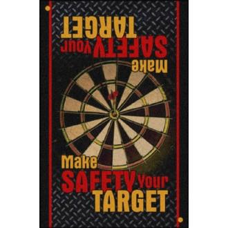SAFETY MESSAGE indoor floor mat – Make Safety Your Target