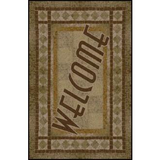 WELCOME 2 Greeting Indoor Commercial Entrance Floor Mat