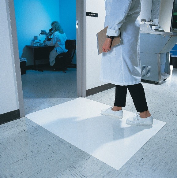 mat in mats tacky four clean pads stock x room peelable sheets per for contamination control cleanroom case sticky white floor
