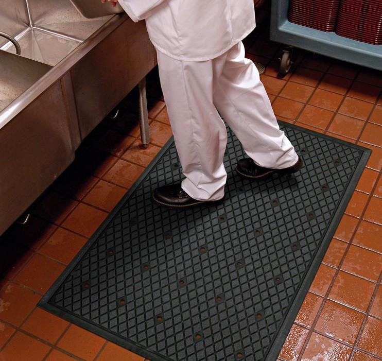 charming Commercial Kitchen Rubber Floor Mats #3: TRACTION HOG Slip-Resistant Floor Mat