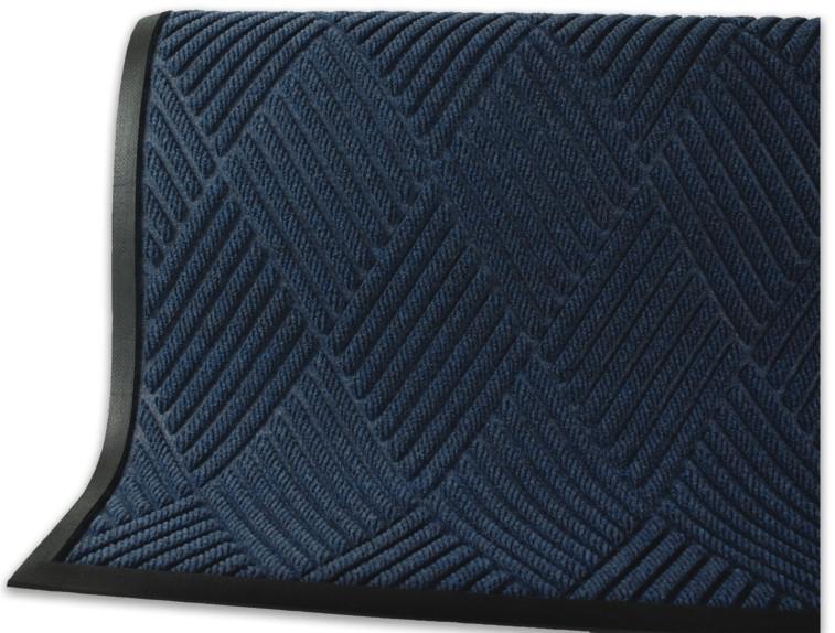 Commercial-Grade Entrance Mat with Rubber Border WaterHog Diamond Navy, 6 x 6 Stain Resistant Door Mat Quick Drying Indoor//Outdoor