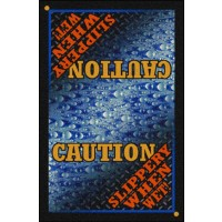 SAFETY MESSAGE Floor Mat – Caution Slippery When Wet