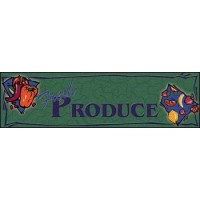 FRESH PRODUCE SUPERMARKET Indoor Floor Mat