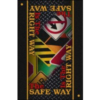 SAFETY MESSAGE floor mat – The Safe Way Is the Right Way