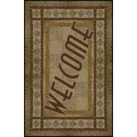 WELCOME 2 Greeting Indoor Commercial Entrance Floor Mat