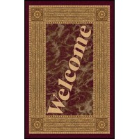 WELCOME 4 Greeting Indoor Commercial Entrance Floor Mat