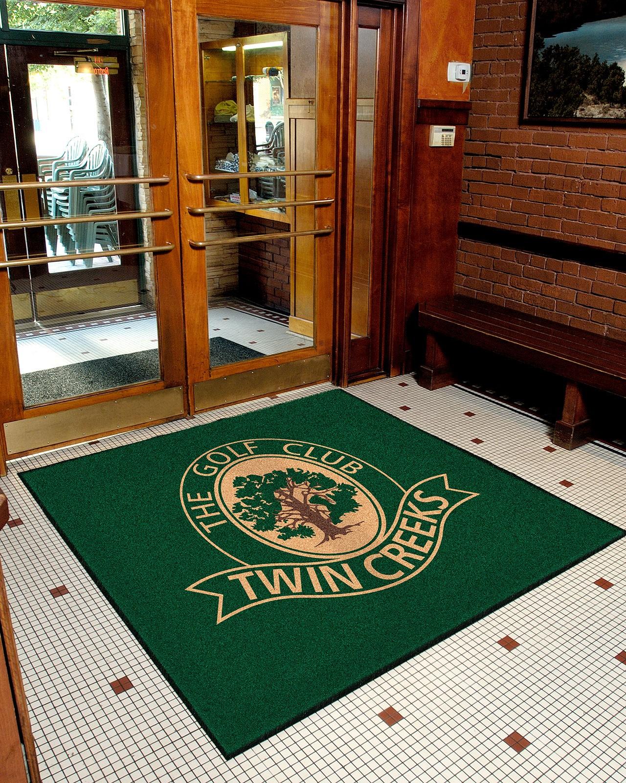 Compu print indoor logo floor mat floor mat systems for Floor print