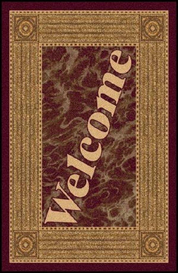 Welcome 4 Greeting Indoor Entrance Floor Mat Floor Mat